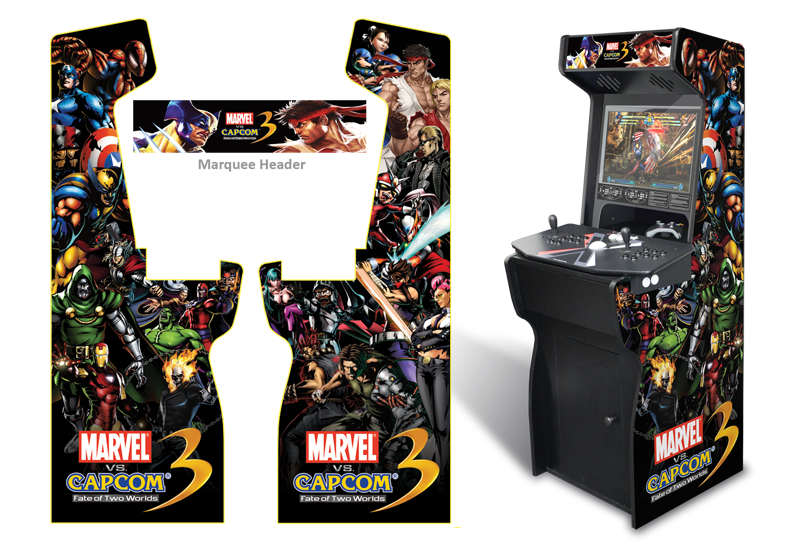 » Customer Submitted: Custom Permanent Full Size Marvel Vs Capcom 3  Graphics For Xtension Arcade Game Room Graphics
