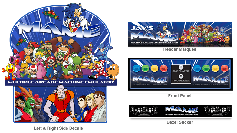 Graphics For Mame Arcade Side Graphics   www.graphicsbuzz.com