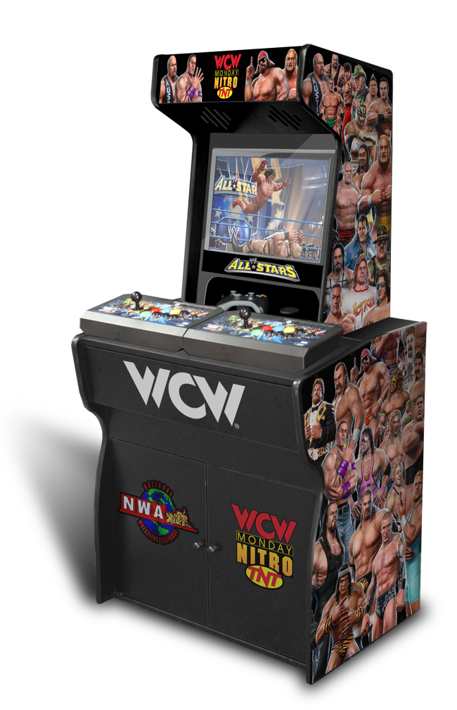 Customer submitted custom permanent full size wwe all for Room wraps