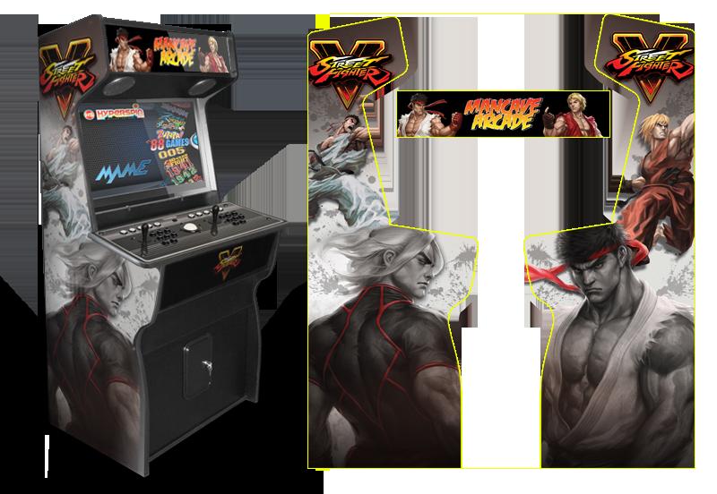 Sfv game room graphics for Room wraps