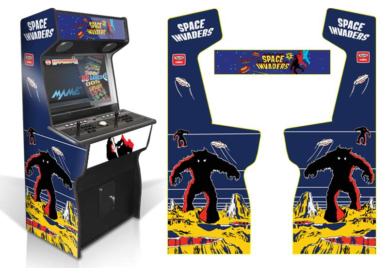 Space inavdersx game room graphics for Room wraps